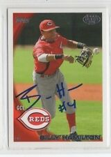 Billy Hamilton 2010 Topps signed auto autographed card Reds