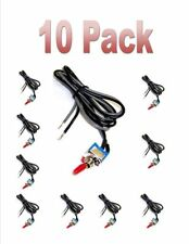 10 pieces SPST 12 Volt Toggle Switch with 24 inch Wire On/Off Miniature Car New
