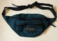 Vintage JanSport Fanny Pack Waist Bag Teal Black 2 Compartments