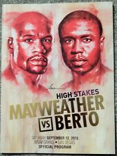 MAYWEATHER VS BERTO RARE SEPT 12 2015 BOXING PROGRAM MGM GRAND LAS VEGAS