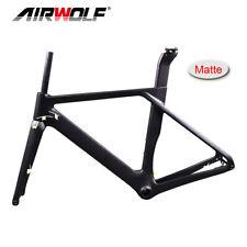 2019 52cm Matte carbon road bike frame 700C*32C max tires carbon disc frame set
