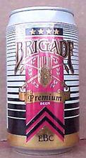 BRIGADE BEER alum. CAN, Evansville Brewing Co., INDIANA, Swords, Brewery CLOSED
