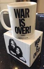 COFFEE MUG JOHN LENNON & YOKO ONO WAR IS OVER PRESENT GIFT LIVE NATION 2009 BOX