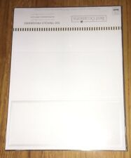 NEW 100 Traditional DIY White Trifold Wedding Bridal Programs Pearl Border