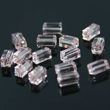 20pcs Swaro-element  4x4x8mm Cuboid Crystal beads A Pink