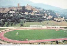 CARTOLINA RARA, SARNANO (MACERATA)  PANORAMA CAMPO DI CALCIO STADIO FOOTBALL (2)
