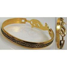Damascene Gold Cuff Bracelet Geometric by Midas of Toledo Spain style 2093Geo