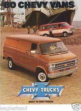 Truck Brochure - Chevrolet - Van Overview - 1980 - 6 models (TB210)