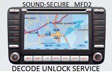VW SEAT SKODA MFD2 NAVIGATION RADIO DECODE UNLOCK