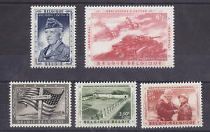Belgium Sc B606-B610 MNH. 1957 Gen. Patton Memorial VF