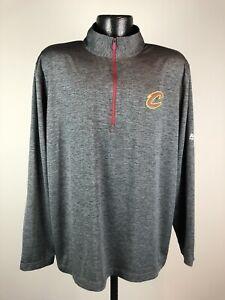 Men's Majestic Cool Base Cleveland Cavaliers Quarter Zip Gray Pullover XL NWOT