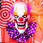 16 in. Battery Operated Animated Talking Clown Halloween Prop