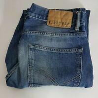 Firetrap Mens Jeans W32 L32 Blue Straight Leg 32x32 Waist 32in Leg 32in