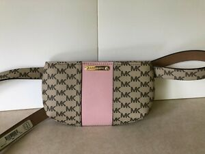 NWT Michael Kors MK Signature Belt Wallet Waist Bag Size L/XL