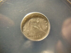 1858 inverted 1858 ANACS XF details Seated Half Dime FS-302 SLABZ