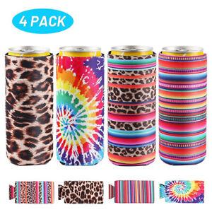 4pack/12oz Skinny Can Cooler Bag Wine Cooler Bag Wine Can Cooler Beer Coozyx