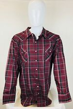 Plains Western Wear Men's Western Long Sleeve Button Down XXXL Shirt       (U3)