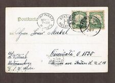 German South West Africa 1905 2x5p #14 Kaiser's Yacht on PC of Abbabis to  US