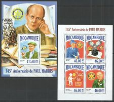 ST2519 2013 MOZAMBIQUE PAUL HARRIS ROTARY INT. KB+BL MNH