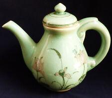 VTG Baan Celadon Thailand Ceramic Hand Painted Floral & Butterfly design Teapot
