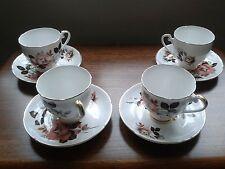 Royal Grafton very rare Pink/White Rose Pattern 4 piece tea set