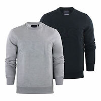 Mens Sweater Jumper Crosshatch Jathan Crew Neck Sweatshirt