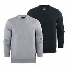 Mens Sweater Jumper Crosshatch Jathan Crew Neck Sweatshirt