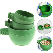 New Plastic Adeeing Bird Pet Food Water Bowl Sand Cup Feeding Size S/M/L