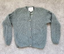 Abercrombie And Fitch Co. 100% Wool Sweater cable knit Grey Womens Size Small
