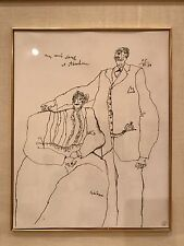 Original Signed Theo Tobiasse (1927-2012) Pencil & Paper Drawing Sketch, 1984 NY