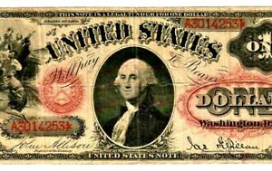 "$1 ""LEGAL TENDER"" 1869 (WASHINGTON) ""LEGAL TENDER"" 1869 (WASHINGTON) CRISPY!!!!!"