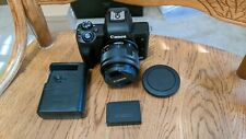 Canon EOS M50 Mirrorless Camera - Black w/15-45mm lens Excellent Condition