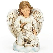 "Roman 4.25"" Angel with Lamb figure (66091)"