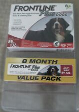 Frontline Plus Flea and Tick Treatment for Dogs 89-132. (8 Month Supply)