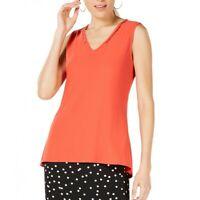 ALFANI NEW Women's Sleeveless Beaded Neck Casual Shirt Top TEDO