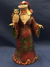 Jim Shore, Wise is The Giving Spirit, Santa with Owl (4027792)