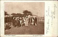 Ägypten Egypt AK 1913 gelaufen nach Großschönau Einheimische Native Indigène