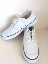 Cole Haan Resort Canvas Sneaker Boat Deck Shoes Ivory White Womens Sz 9B F6662