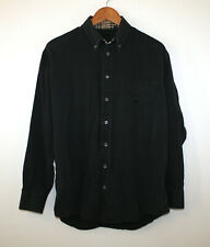 Burberry London Black Longsleeve Button Down Shirt Men's Large L Nova Check