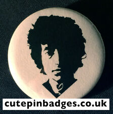 "Bob Dylan Badge (25mm/1"") Pin Button Folk Rock 60s Protest Basement Tapes Vinyl"