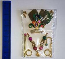 Lord Krishna Laddu Gopal Shringar Set Jewelery Set - Mukut Earing Necklace +more