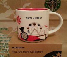 Starbucks coffee Mug/taza vaso/new jersey you are here, nuevo m. sticker I. box!!!