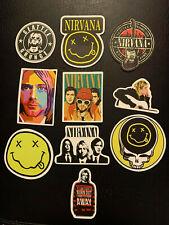 "Lot of 10 Nirvana KURT COBAIN 2"" to 3"" Band Photo Logo Stickers FAST! FREE!"