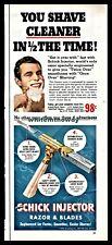 1953 SCHICK Injector Razor Blades AD Vintage Shaving Bathroom Decor Advertising