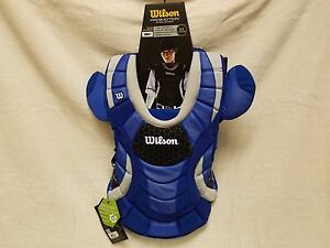 Wilson Adult Womens ProMOTION Fastpitch Catchers Chest Protector Royal 16.5""