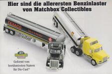"MATCHBOX COLLECTIBLES Convoy serie ""BENZINA CAMION"" prospetto"