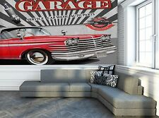 Car Wash Retro  Photo Wallpaper Wall Mural DECOR Paper Poster Wall art