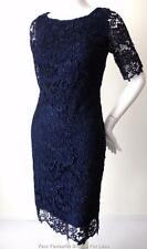 REVIEW  Size 6 US 2 UK 6 Blue Short Sleeve Lace Sheath Dress