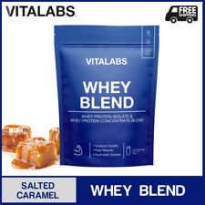 1KG WHEY PROTEIN POWDER WPC/WPI 100% PURE - Salted Caramel