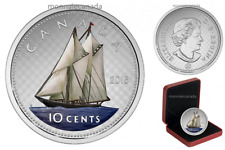 2004 Canada Dime Bluenose logo 10 cent coin sterling silver w proof finish